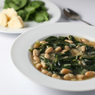 Spinach Leek and White Bean Soup