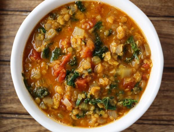 Red Lentil Kale Soup