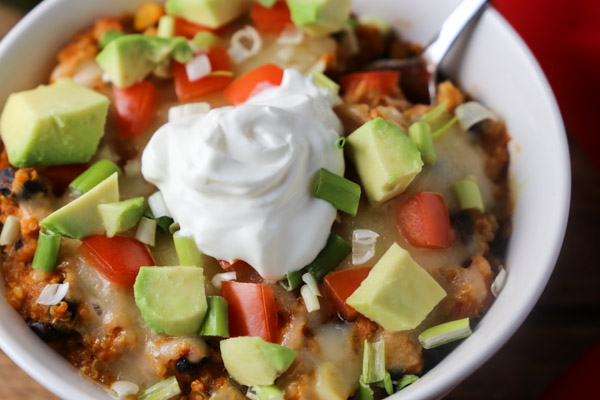 Slow Cooker Enchilada Quinoa