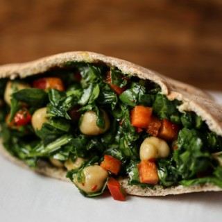 Spinach and Chickpea Tapas
