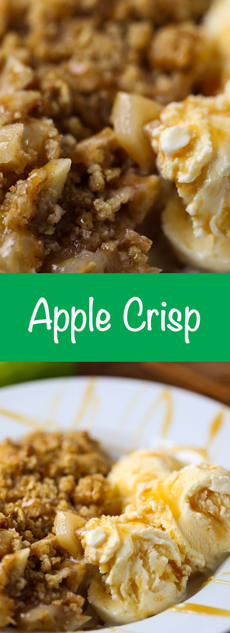 Apple-Crisp-A classic and cozy dessert! Serve with vanilla ice cream is a must!