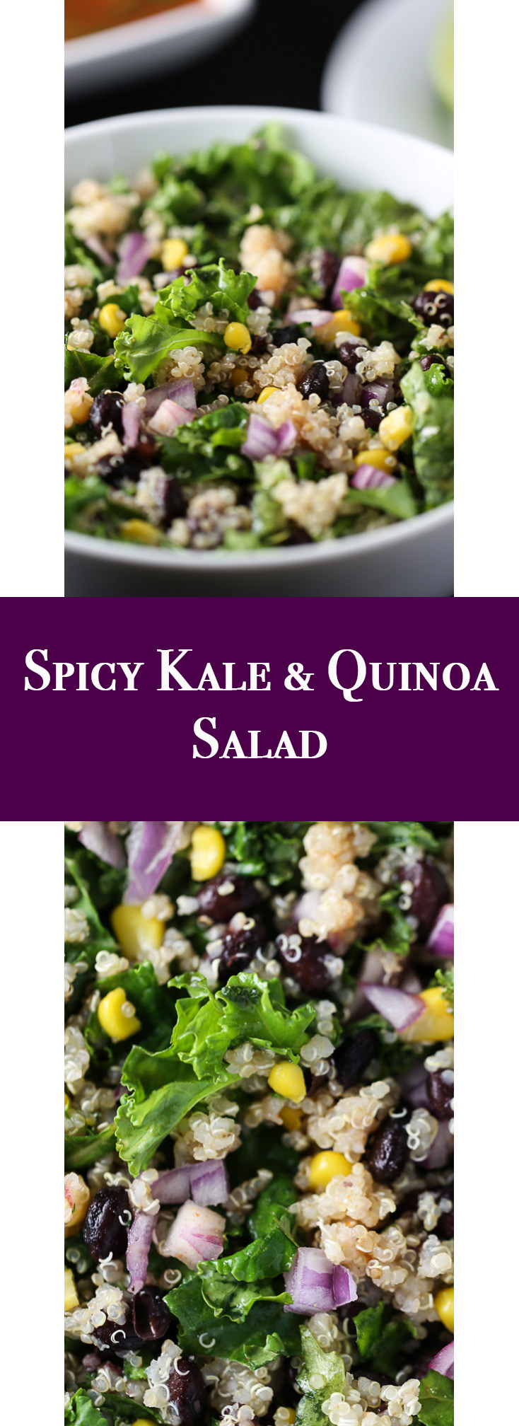 Spicy Kale & Quinoa Salad - So Good! So Healthy! So Spicy!