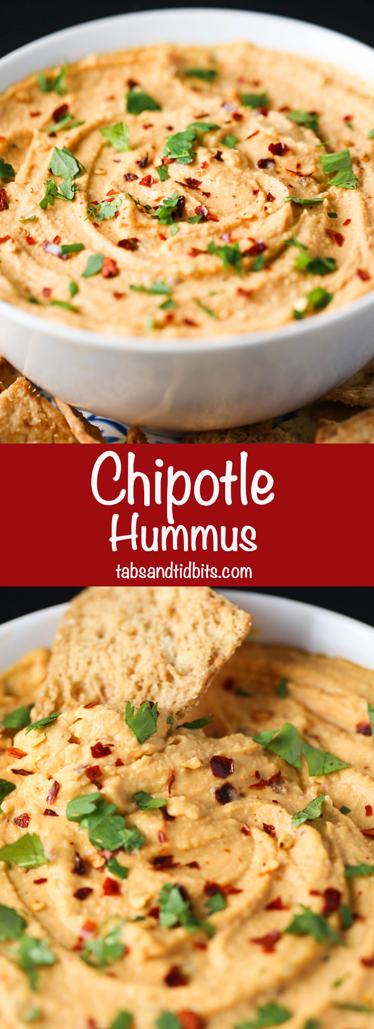 Chipotle Hummus-Deliciously spicy & smoky!