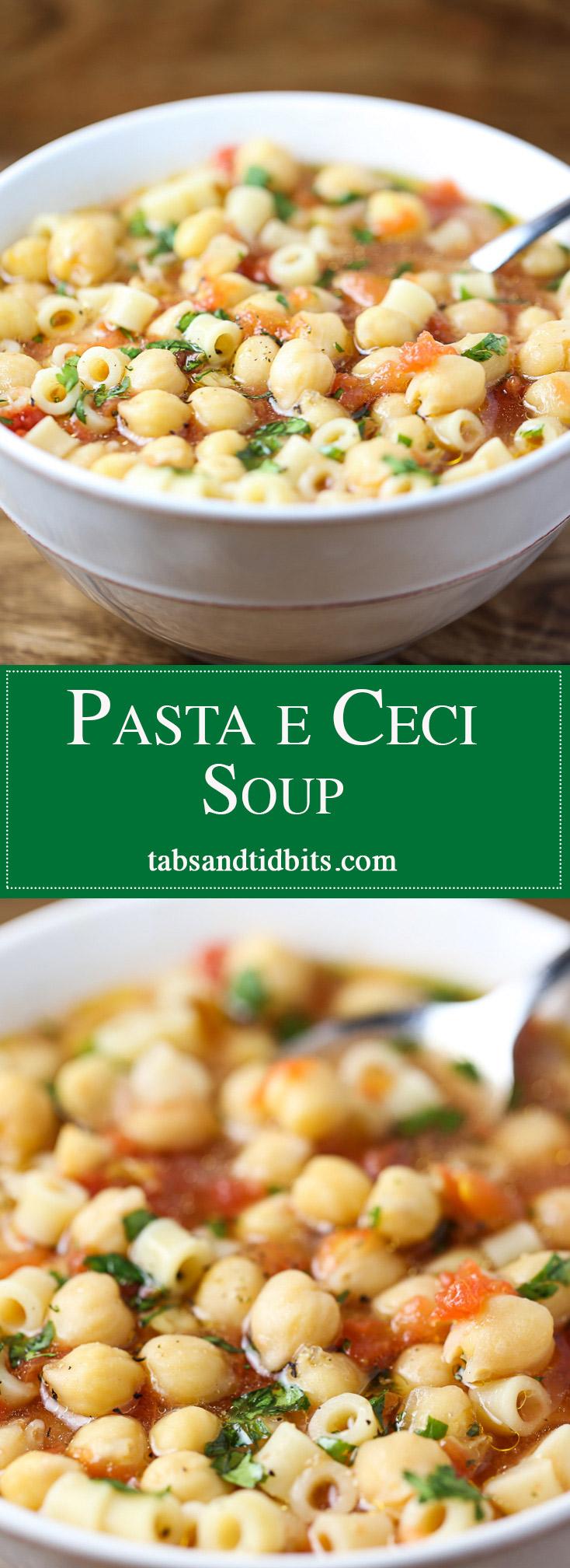 Pasta e Ceci Soup - Pasta & Chickpea Soup!