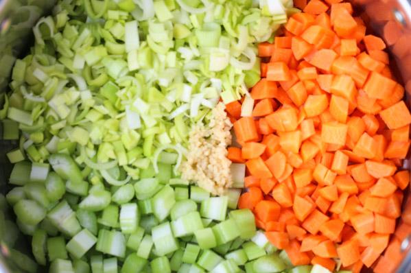 Potato Leek & Veggie Soup