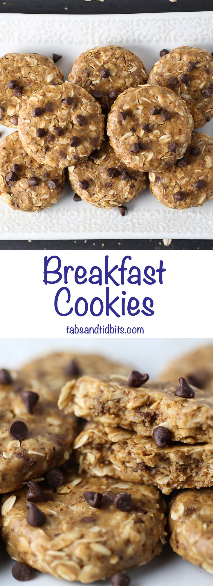 Breakfast Cookies - A whole breakfast cookie filled with power packed ingredients!