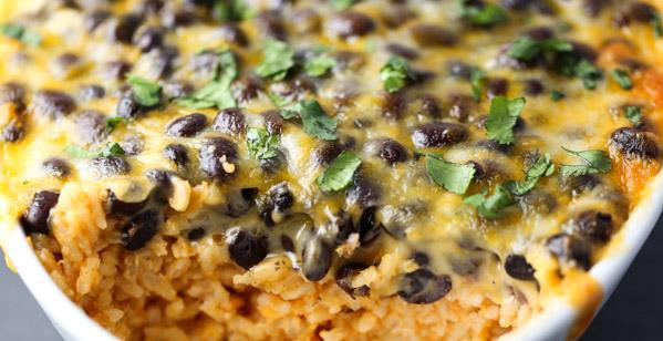Cheesy Baked Bean & Rice
