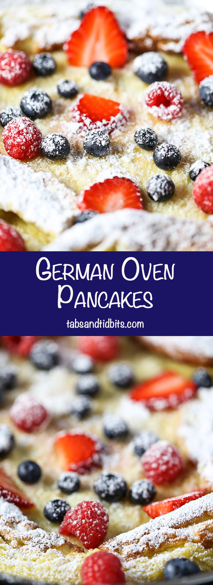 German Oven Pancakes - A classic oven pancake that puffs up into a golden delicious breakfast!