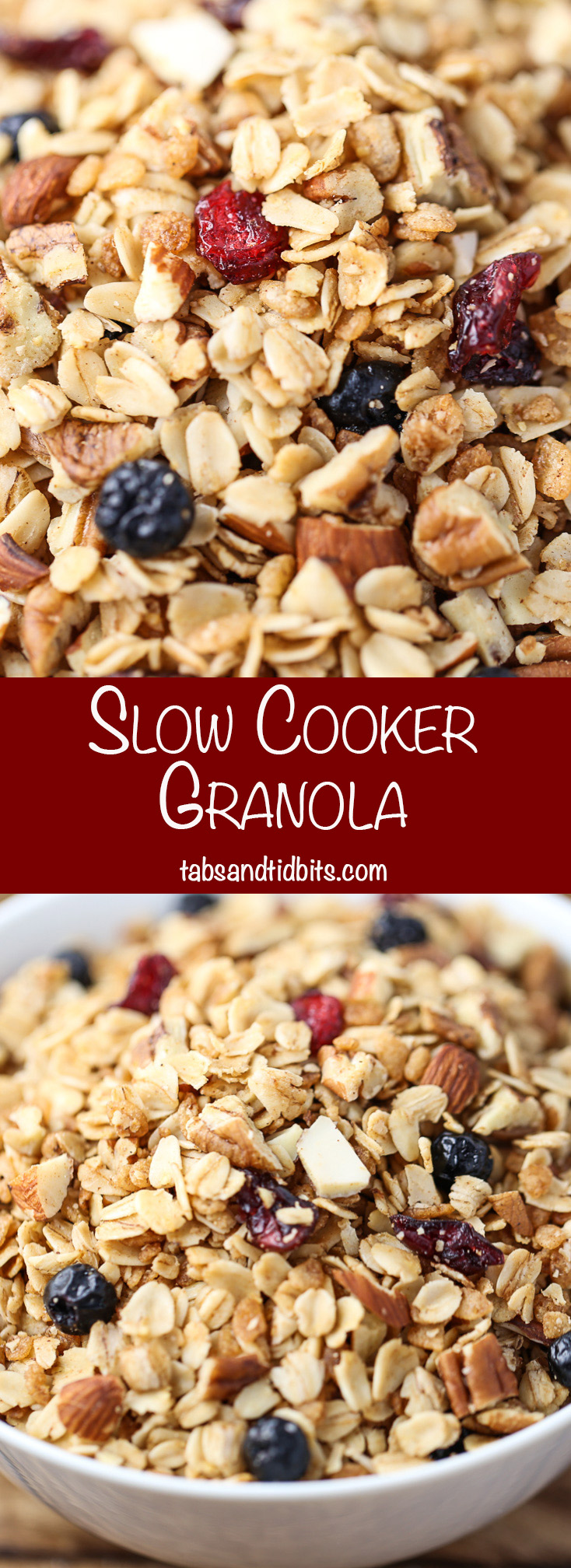 Slow Cooker Granola - Crispy granola made right in the slow cooker!