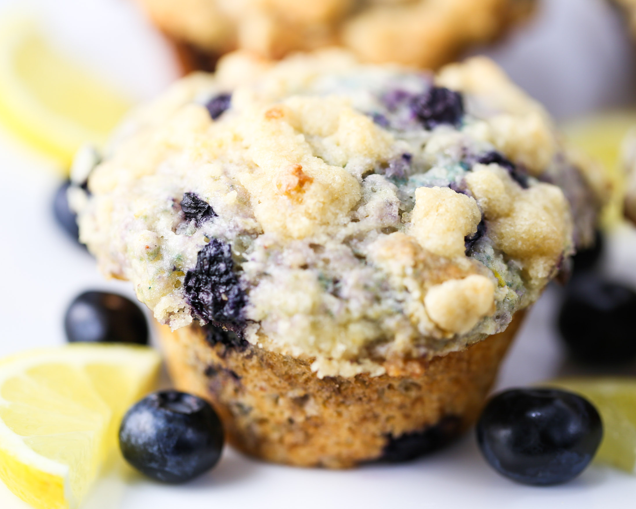 Bakery Style Lemon Blueberry Muffins are tender jumbo size muffins ...