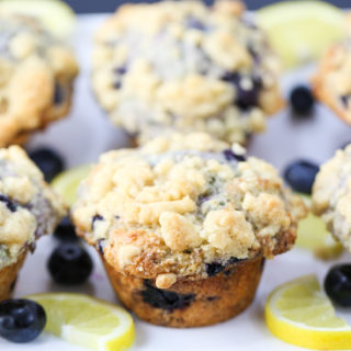 Bakery Style Lemon Blueberry Muffins