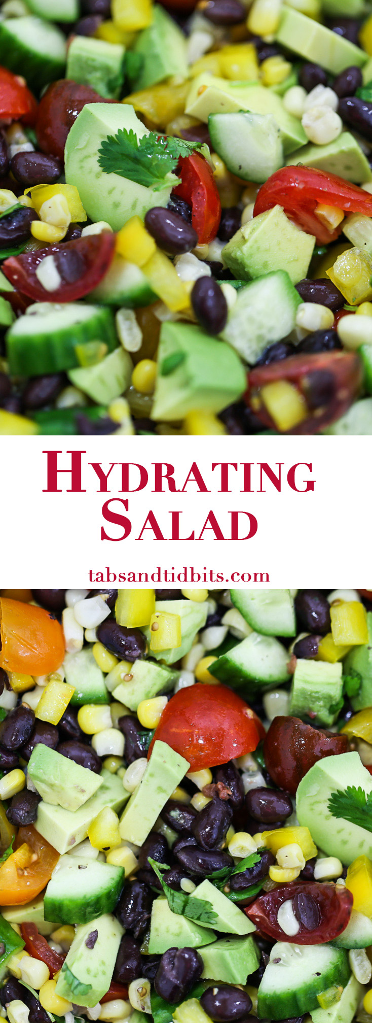 Hydrating Salad - A colorful and refreshing salad full of veggies that provide delicious hydration.