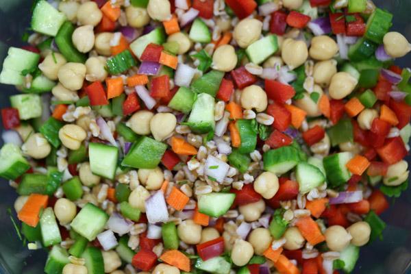 Refreshing Garbanzo & Chickpea Salad