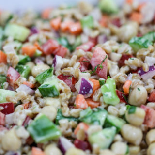 Refreshing Garbanzo & Chopped Veggie Salad