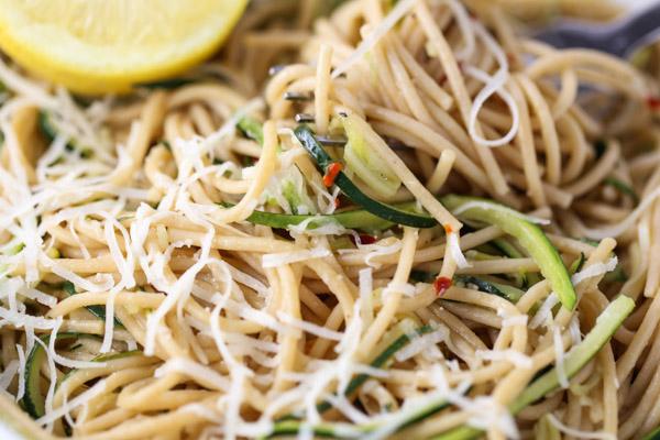Zesty Spaghetti & Zucchini