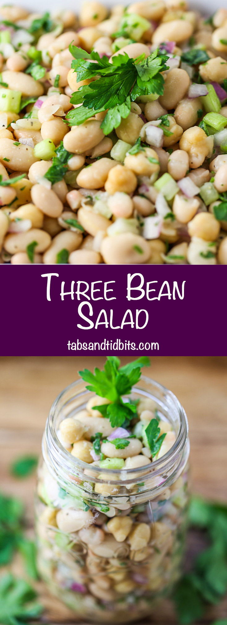 Three Bean Salad - A protein packed healthy three bean salad.