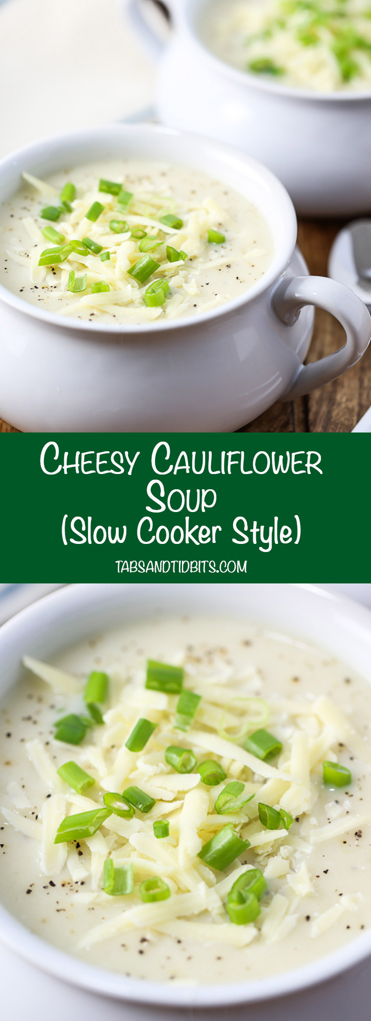 Cheesy Cauliflower Soup - This Cheesy Cauliflower Soup is a perfect low carb choice that delivers great flavor!