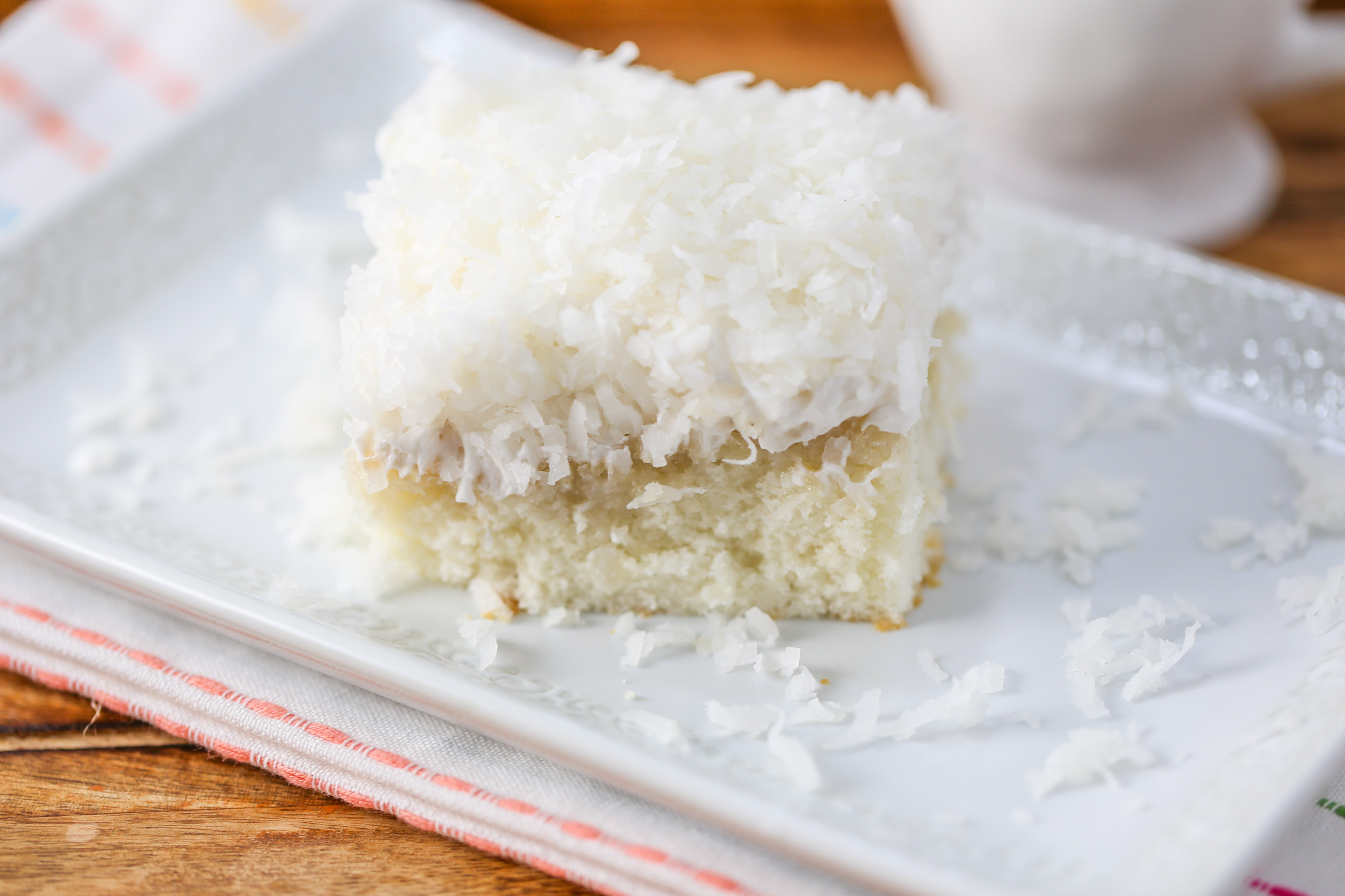 This Coconut Cream Cake is light and moist with coconut flavor ...