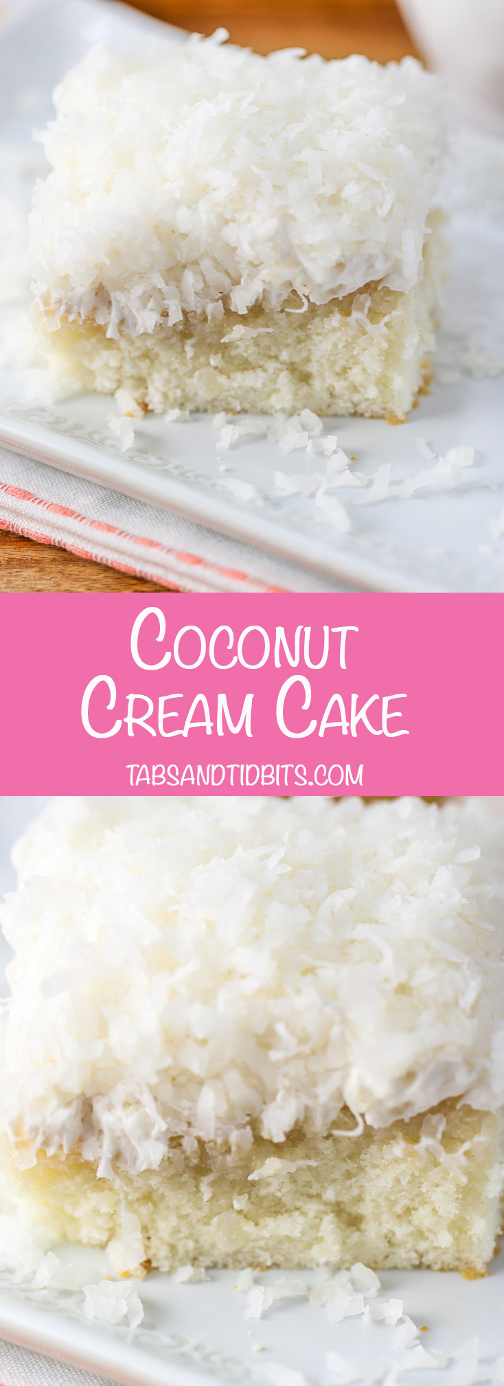 Coconut Cream Cake - Cool and moist coconut cake with just the right amount of sweet!