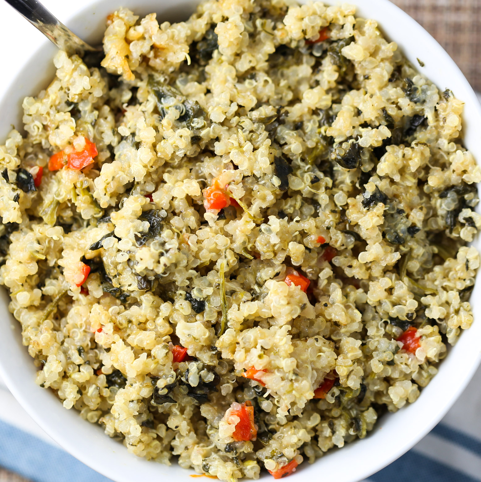 Spinach & Cheese Quinoa Casserole