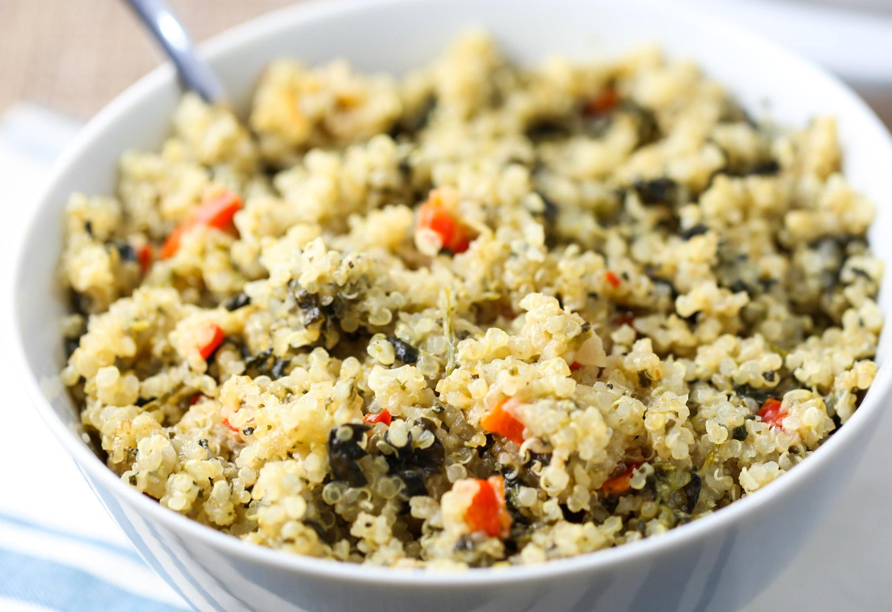Spinach & Cheese Quinoa Casserole