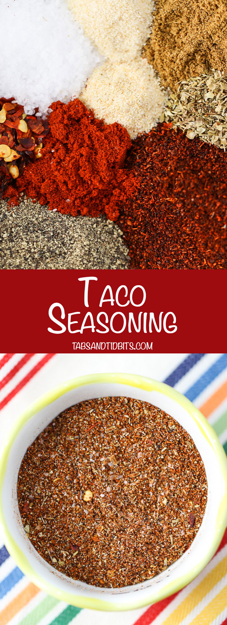 Taco Seasoning - Homemade taco seasoning that is rich and flavorful with a touch of smoky and spicy!
