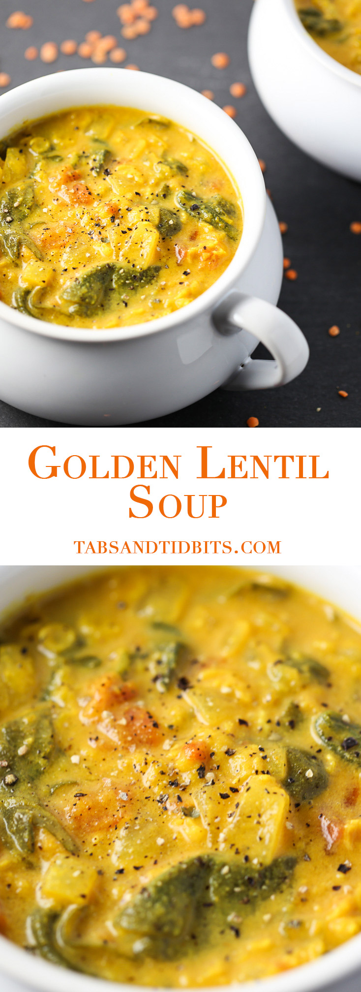 Golden Lentil Soup - A nutrient and flavor-packed soup that cooks up fast and delicious!