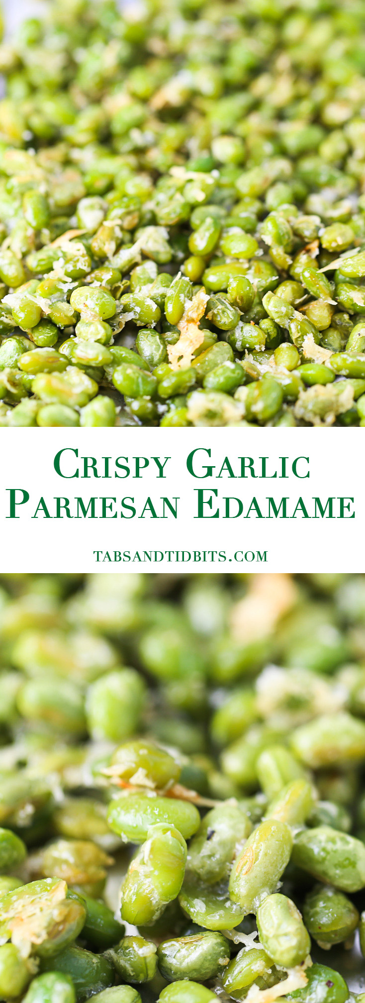 Crispy Garlic Parmesan Edamame - A delicious protein-packed snack that is delicious and healthy!