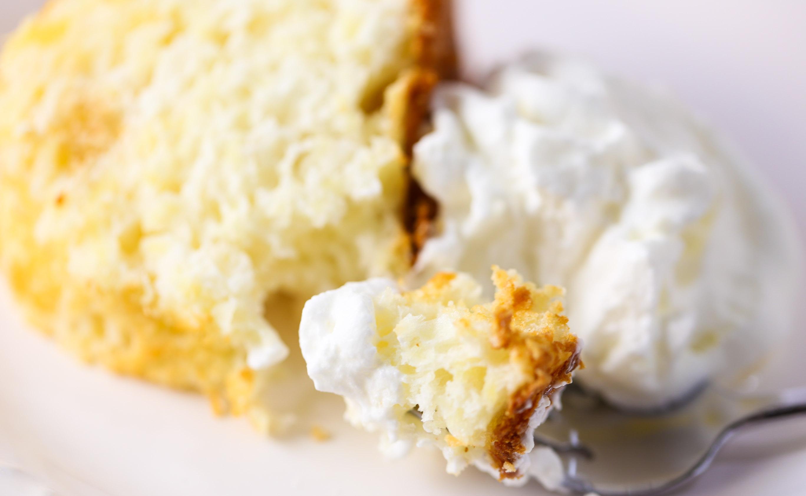 Pineapple Tidbits And Angel Food Cake