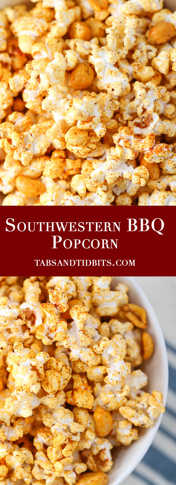 Southwestern BBQ Popcorn - A smoky bbq and buttery popcorn treat!