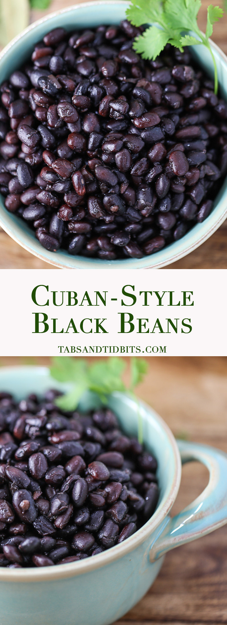 Cuban-Style Black Beans - Black beans infused with smoky cumin, oregano, onion, and just a hint of cilantro!