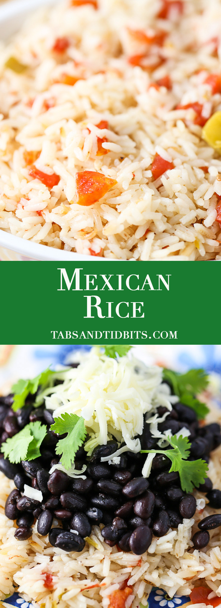 Mexican Rice - Toasted rice cooked with tomatoes, green chilies, garlic, and vegetable broth!