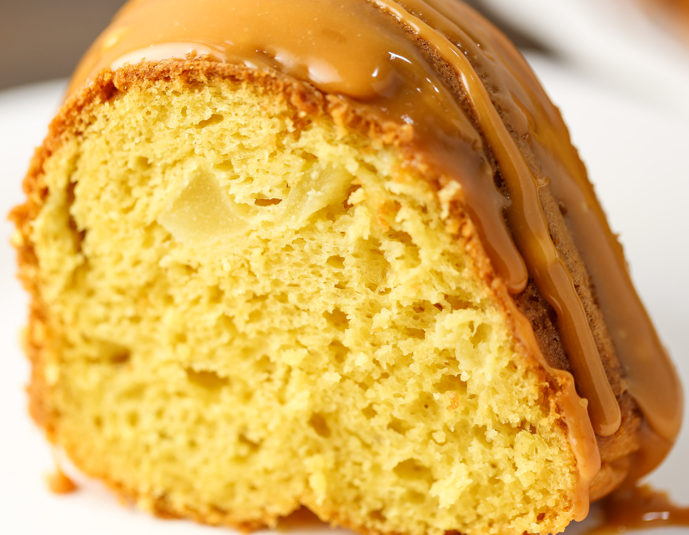 Yellow Cake Mix Apples Caramel