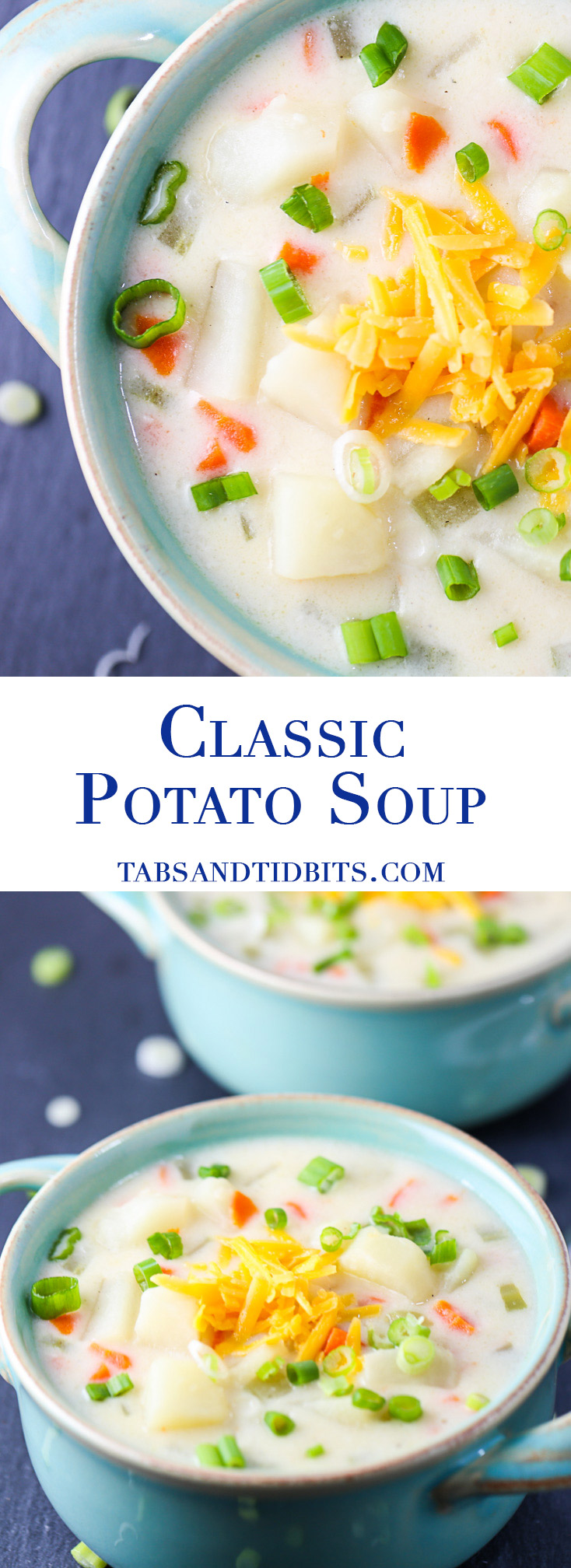 Classic Potato Soup - A creamy, delicious, and filling potato soup full of the classic veggies!
