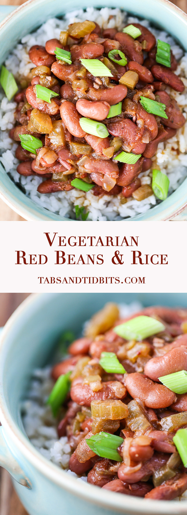 Vegetarian Red Beans & Rice - A meatless version of red beans and rice that is filled with spices, smokiness, and flavor!