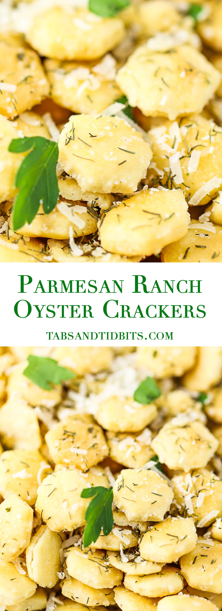 Parmesan Ranch Oyster Crackers - Flavorful seasoned and buttery oyster crackers made right in the slow cooker!