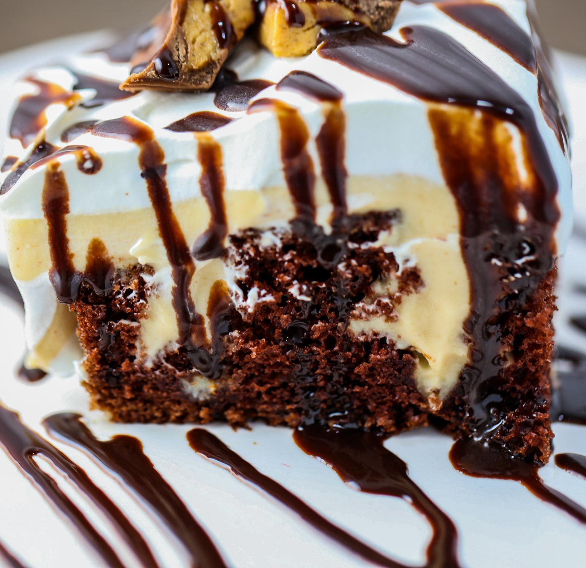 Chocolate Poke Cake Tasty
