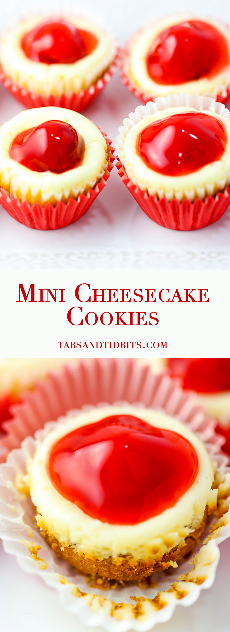 Mini Cheesecake Cookies - A cheesecake and cookie in one perfect bite!