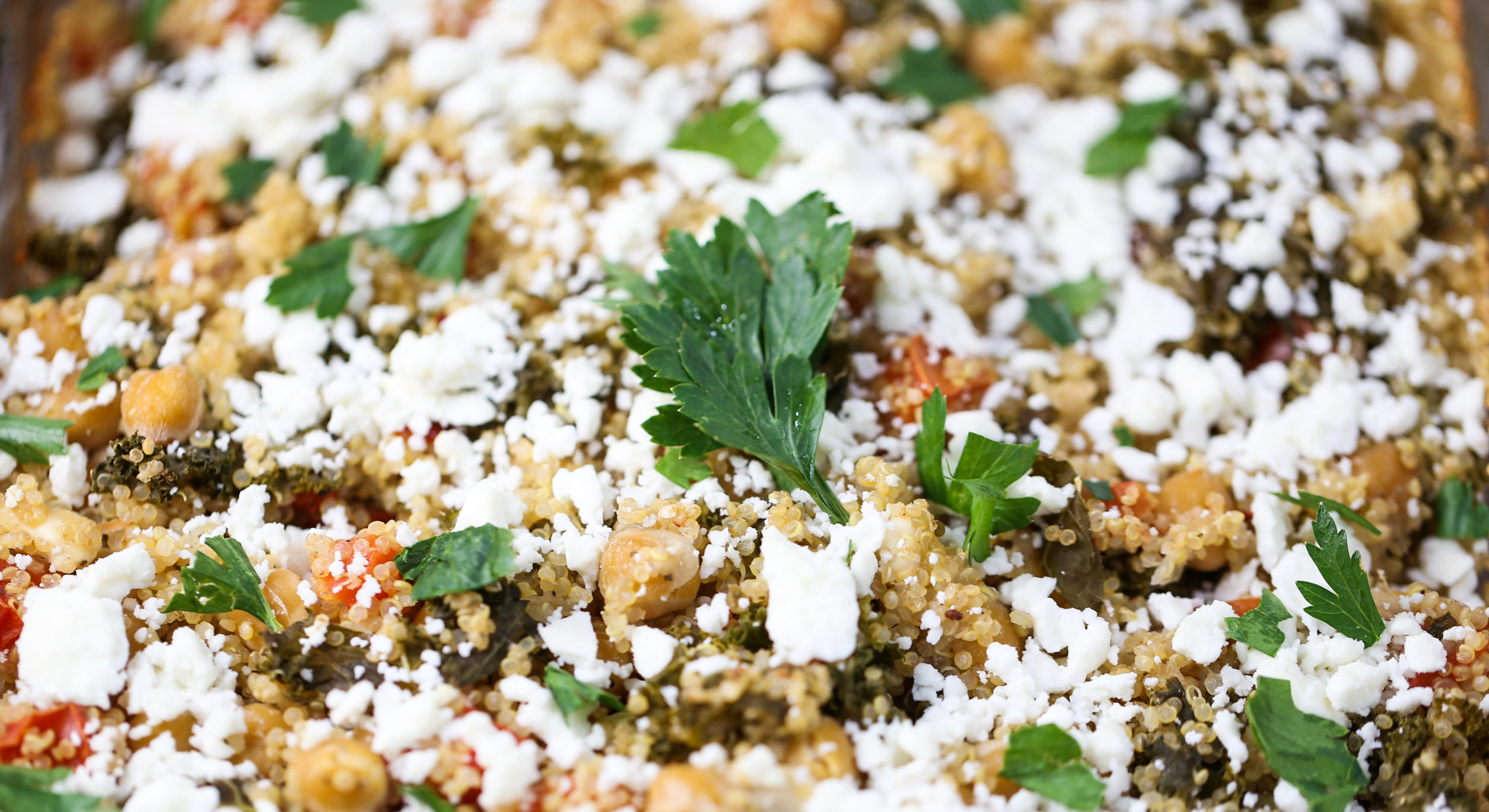 Baked Quinoa with Kale & Chickpeas