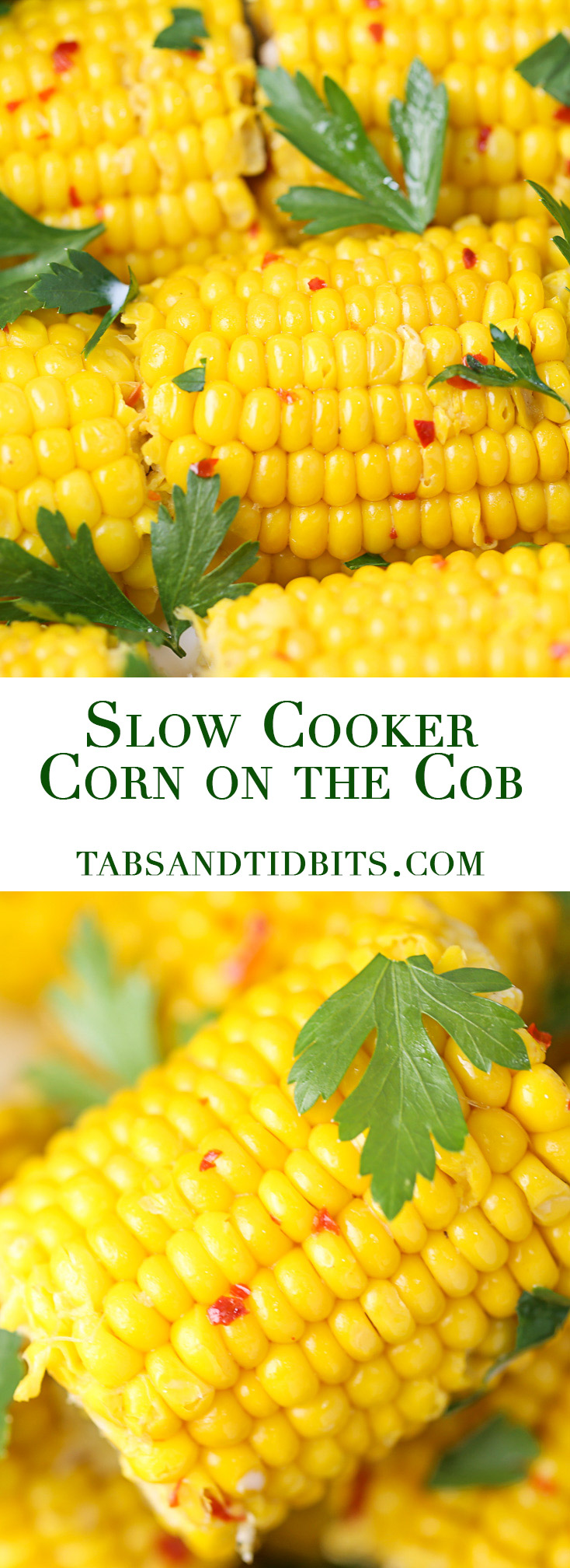 Tender and flavorful corn on the cob cooked in seasoned milk and butter right in the slow cooker!