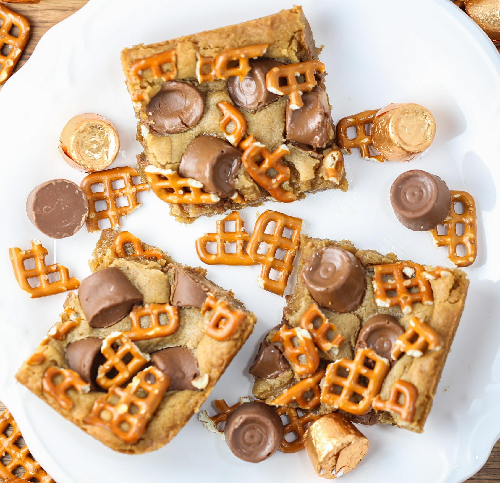 Sweet & Salty Peanut Butter Bars