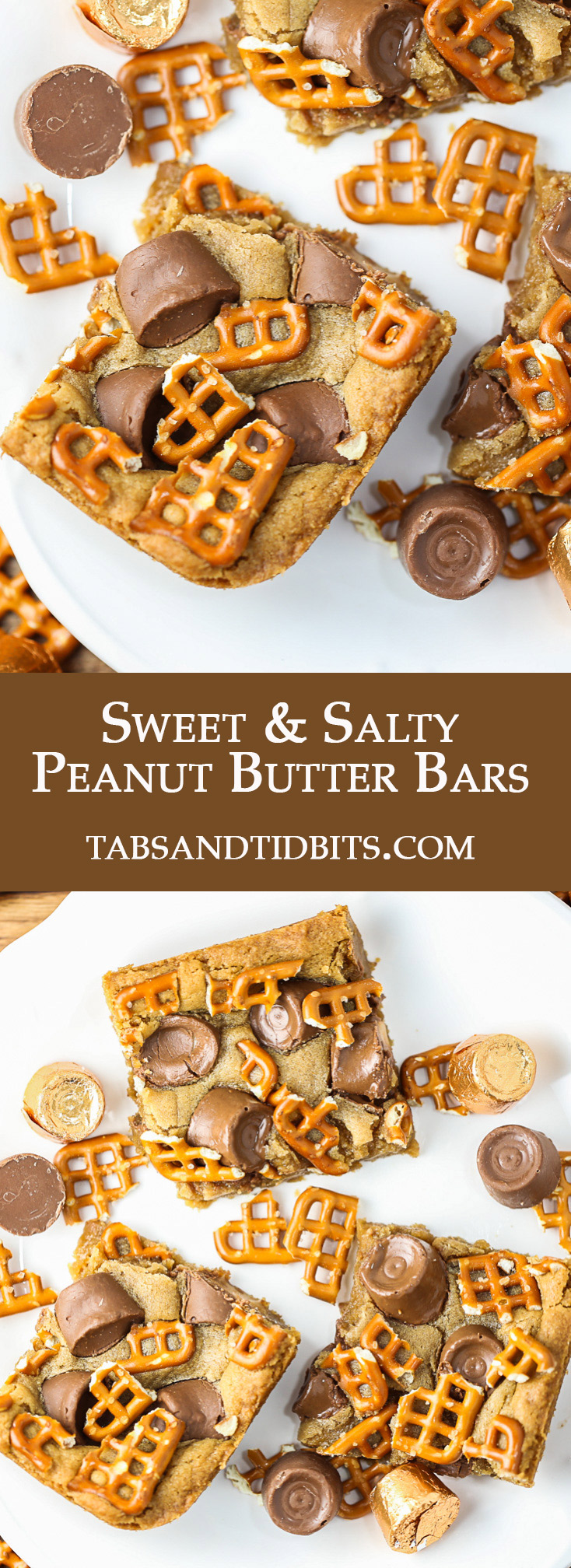 Only 3 ingredients required for these sweet and salty gooey bars!