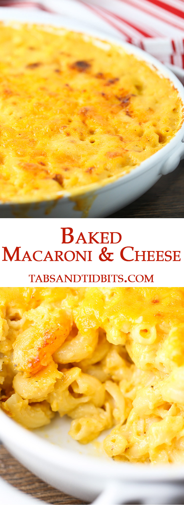 Just two cheeses and a flavorful béchamel sauce creates this classic go to macaroni & cheese!