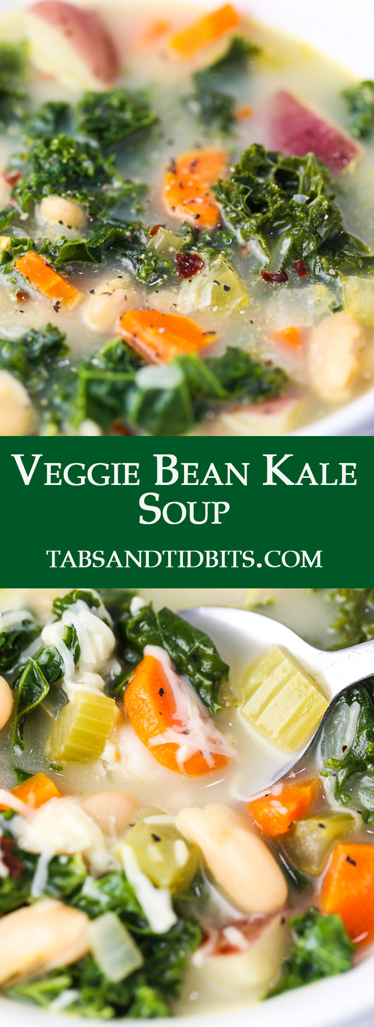 This Veggie Bean Kale is soup is nutritious and protein packed with a hint of spice!