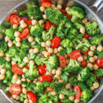Chickpea Saute with Broccoli & Tomatoes