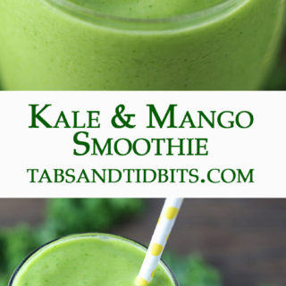 Kale, mango, coconut, and a touch of ginger blended into one delicious and healthy smoothie!