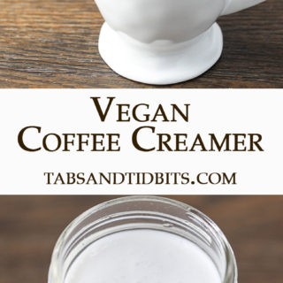 This Vegan Coffee Creamer is made from 2 ingredients and is a creamy addition to your coffee!