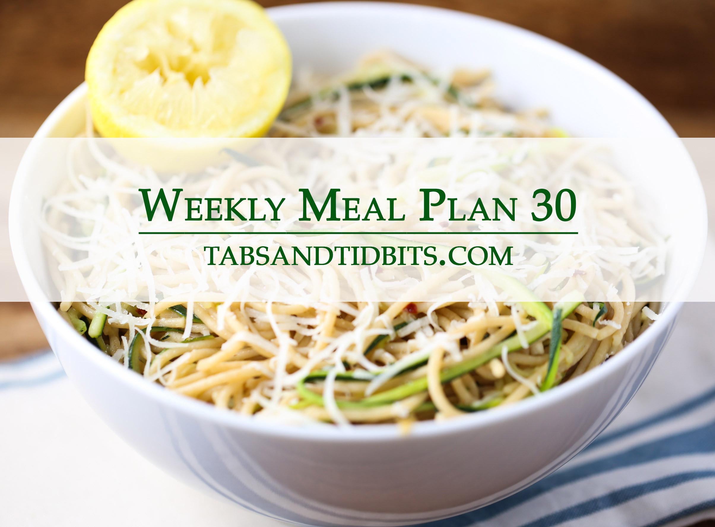 Weekly Menu 30