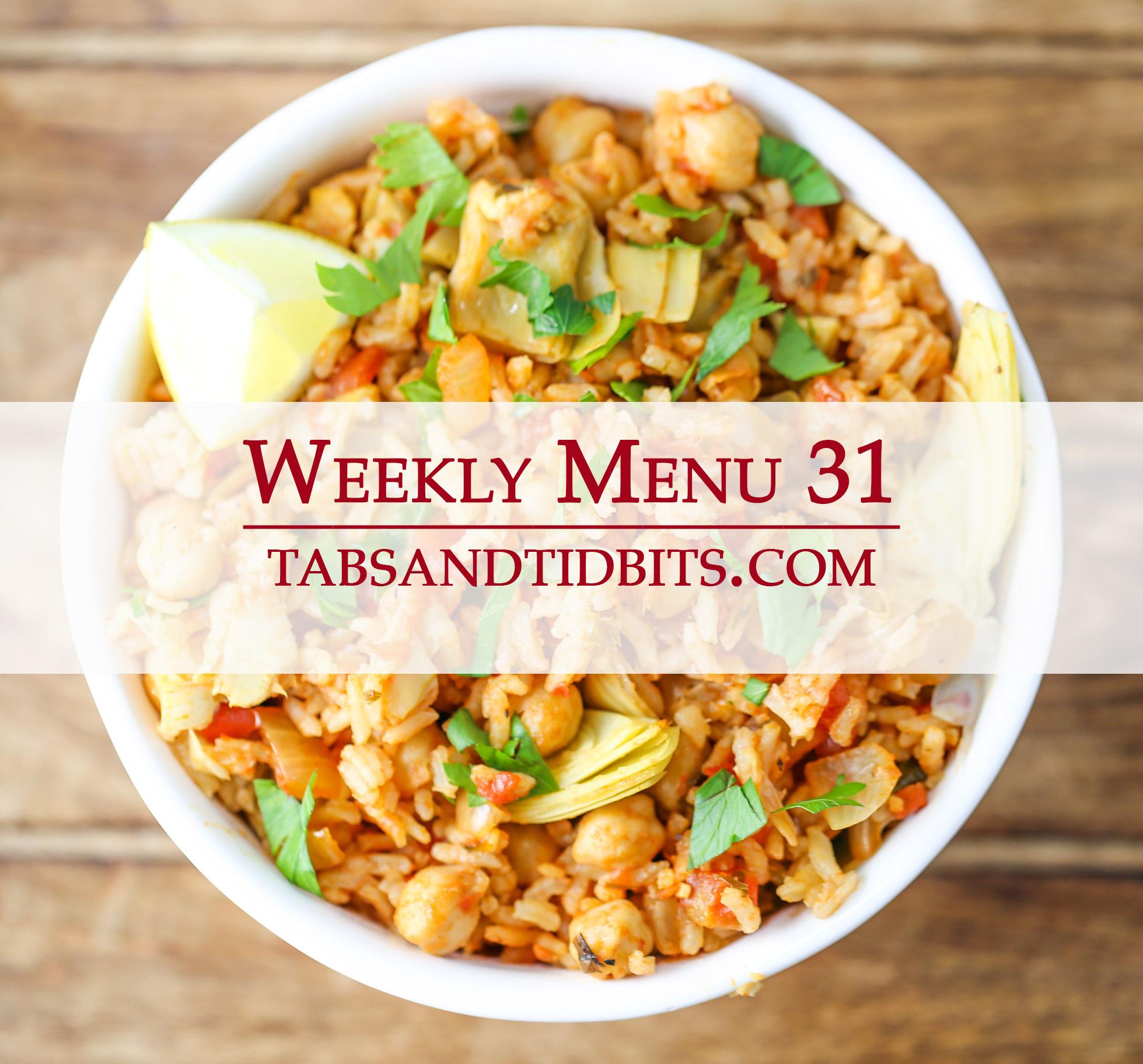 Weekly Menu 31