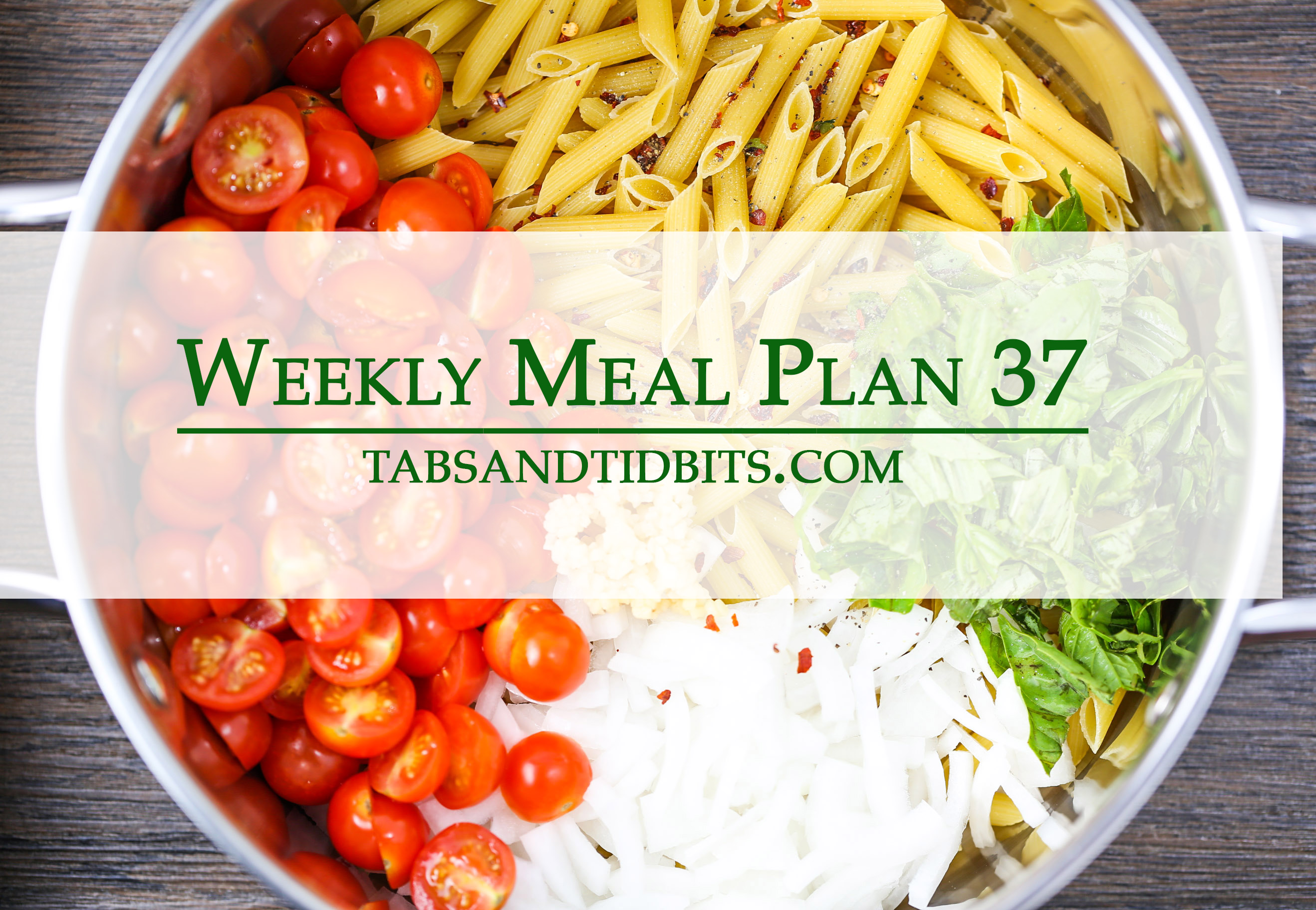 Weekly Meal Plan 37